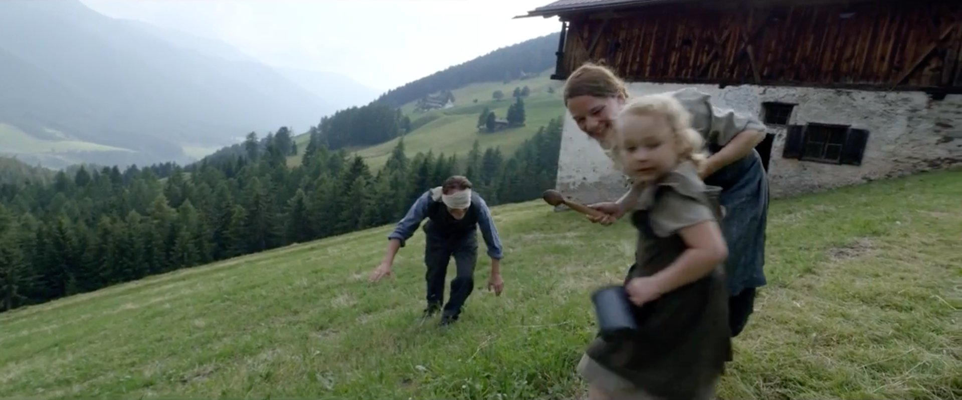 grass outdoor sky clothing person little human face hiking young nature smile mountain boy tree girl woman toddler highland