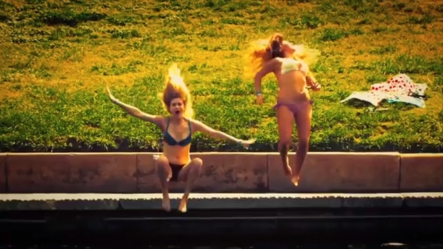 grass outdoor girl swimwear person dance