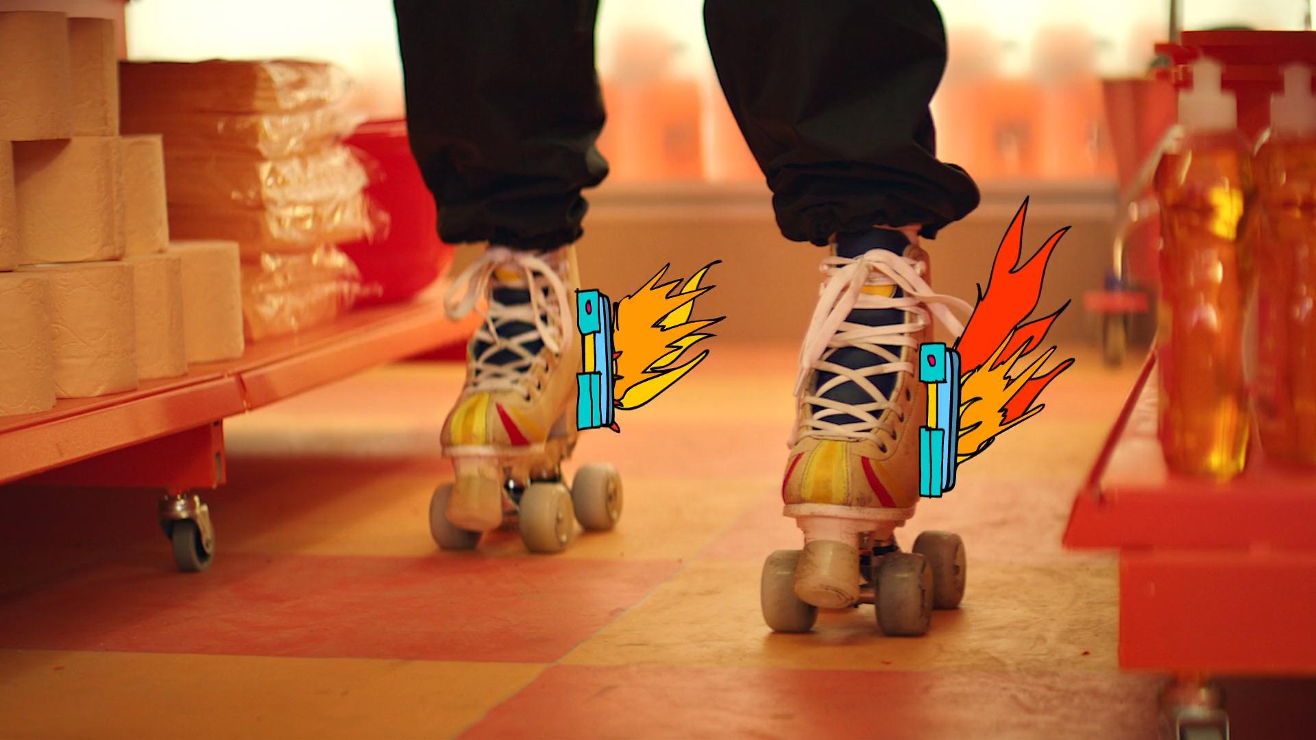 toy cartoon person indoor footwear feet