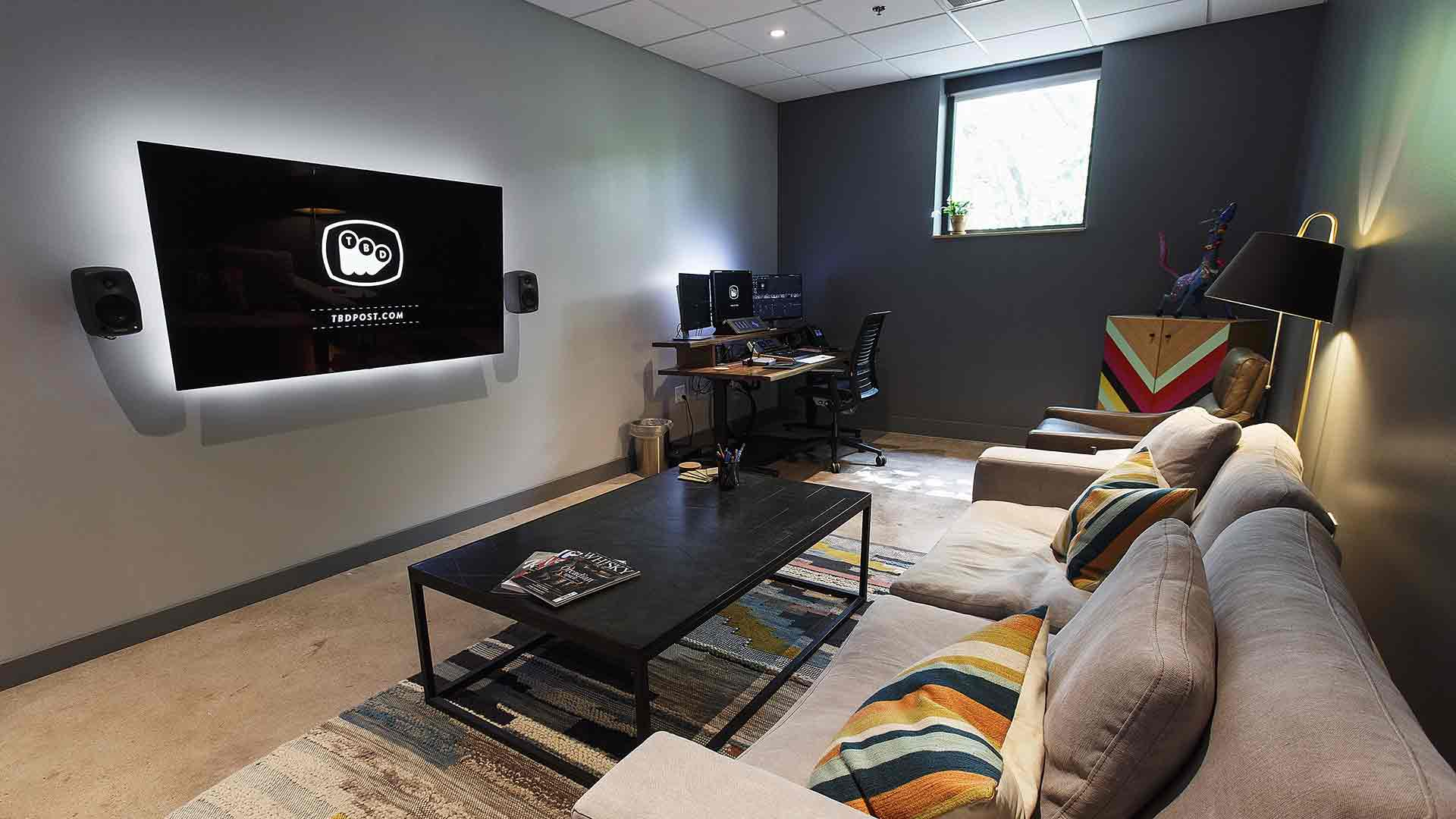 indoor wall room television floor table desk computer living chair computer monitor couch coffee table design interior furniture area
